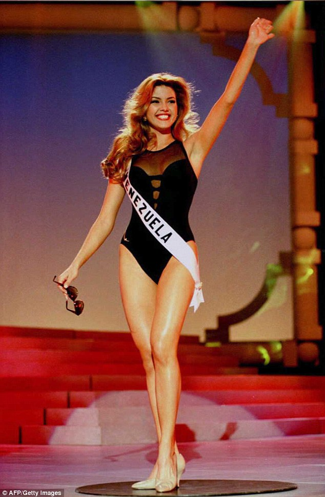 Not so happy: Miss Universe 1996, Alicia Machado, says Mr Trump called her 'Miss Piggy' after she gained weight following her crowning