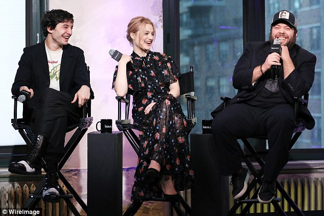 Chat: They were joined by other members of the cast including Ezra Miller, Alison Sudol and Dan Fogler