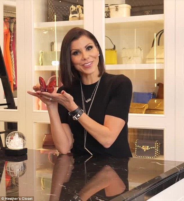 New project: Heather Dubrow has debuted a new YouTube series called Heather's Closet in which she tours viewers through the walk-in wardrobe she's designed for her new mansion