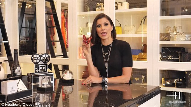 'This beautiful red Baccarat butterfly': For the first episode, the centrepiece item she'd decided to show off was a birthday present from her fellow Real Housewife Of Orange County Shannon Beador