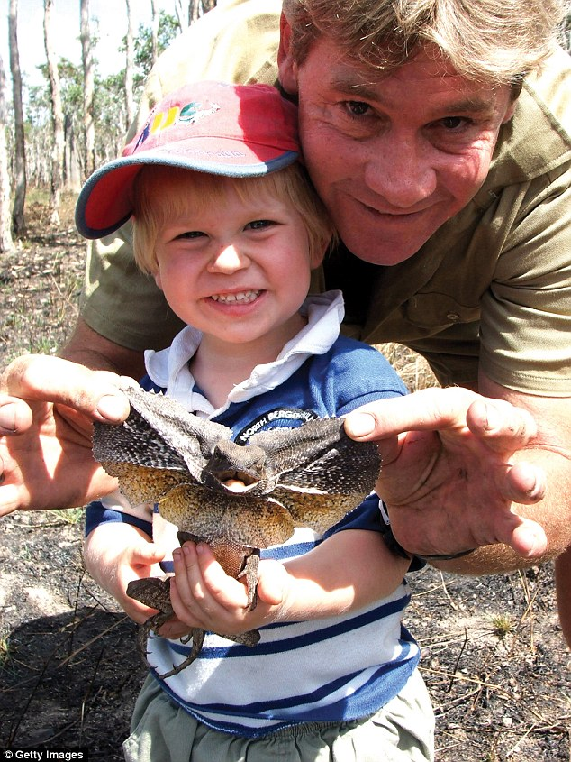 Tragic: Robert was just two-years-old when his father tragically passed away after being struck in the heart by a stingray