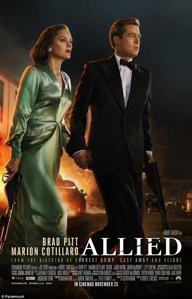 High expectations: Pitt stars with French actress Marion Cotillard in the World War Two spy thriller that opens in theatres the day after Thanksgiving