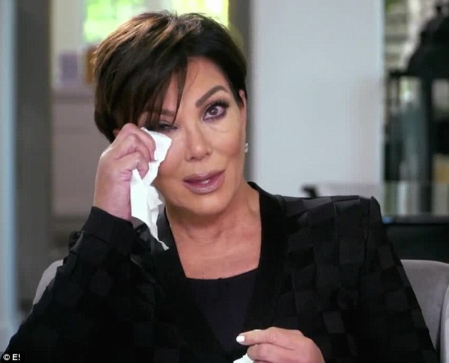 Emotional moment: During the latest promo of Keeping Up With The Kardashians, Kris Jenner was reduced to tears whilst interviewing her mother Mary Jo Shannon