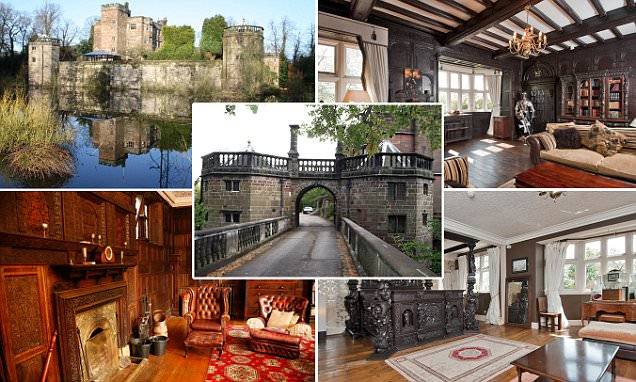 One of the last moated castles in England is for sale and comes with an old dungeon and