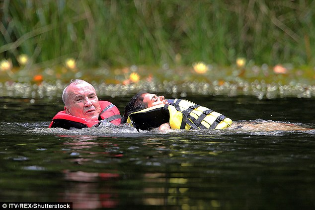 Smart: She used Larry as a flotation device to make things easier for herself