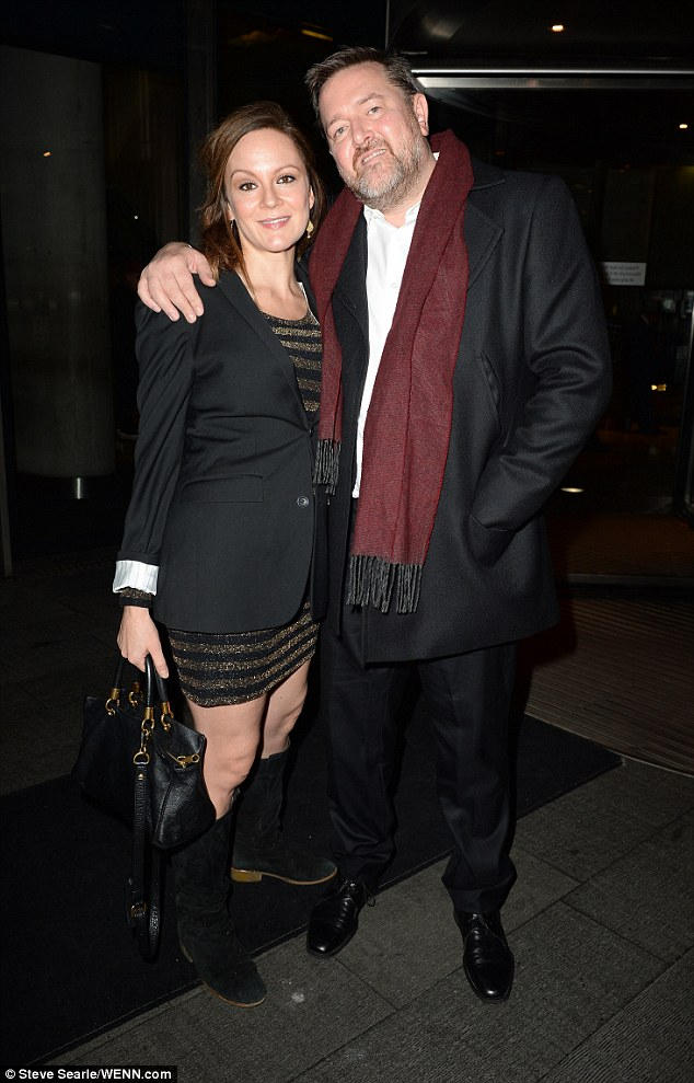 Me and my girl: Elbow singer Guy Garvey arrived with wife Rachael Stirling