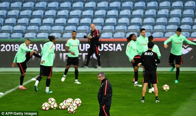 Portugal coach Fernando Santos, who led the team to a stunning Euro 2016 triumph, looks on