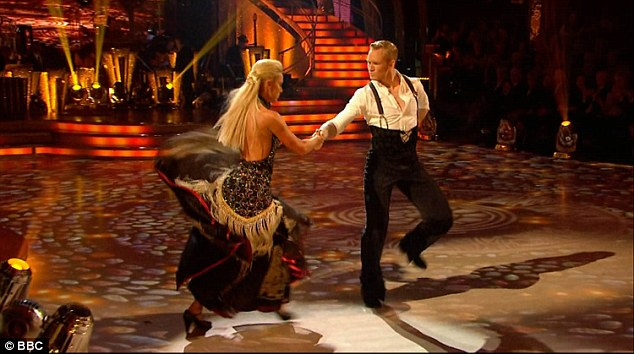Impressive:Tied with the same number of points was Greg Rutherford and Natalie Lowe who performed a powerful Pasa Doble