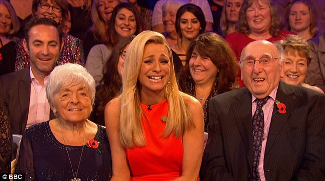 Number one fans:It was a particularly poignant dance for Judge Rinder, who performed for the first time in front of his grandparents
