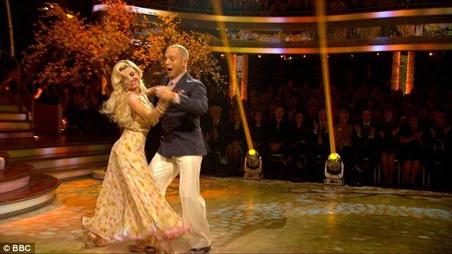 Step to it:Their presence seemed to have a wonderful effect on the TV judge, who whilst emotional, performed a stunning foxtrot on the evening
