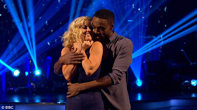 Teary-eyed:Another emotional dancer on the night was Ore Oduba, who was still feeling the pressure from being in the bottom two the week before