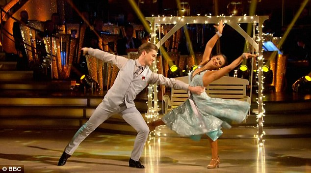 Smooth moves:Claudia Fragapane and AJ Pritchard performed an emotional Viennese Waltz