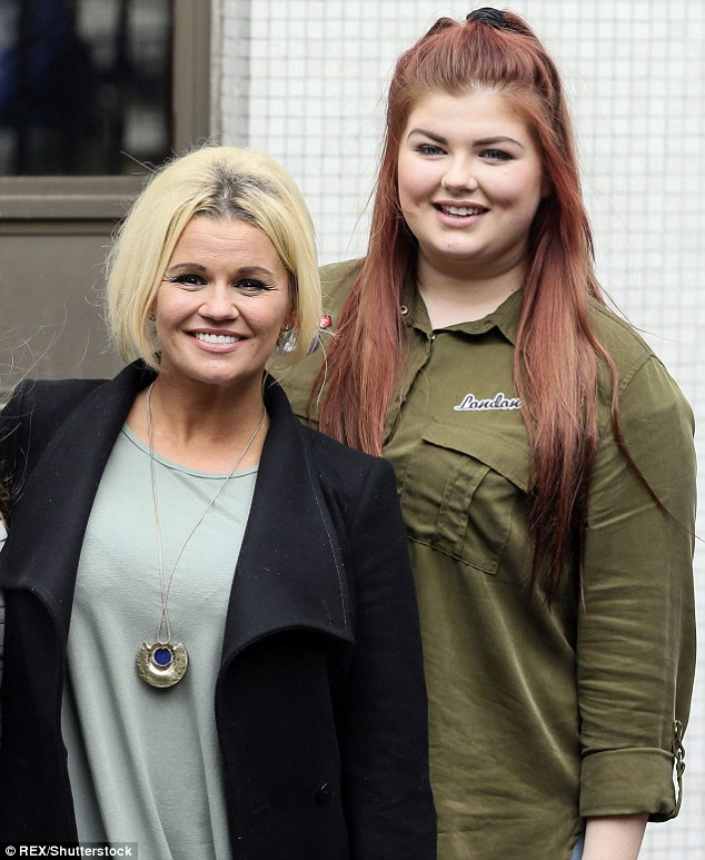 Hidden talent: Kerry Katona - who shares 15-year-old Molly McFadden with ex-husband Brian McFadden - uploaded a snippet of her daughter performing to Twitter on Saturday