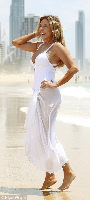 Glam: Carol looked phenomenal in her swimsuit