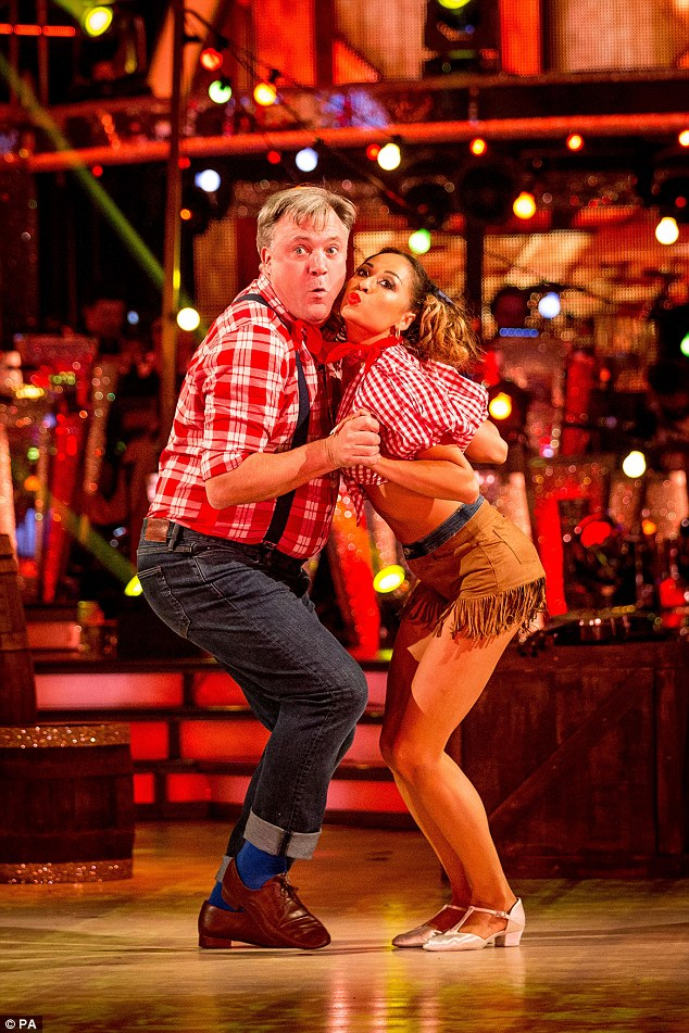 Natural performer: Ed Balls' Strictly Come Dancing partner Katya Jones has revealed there's one thing the politician can't do: be manly