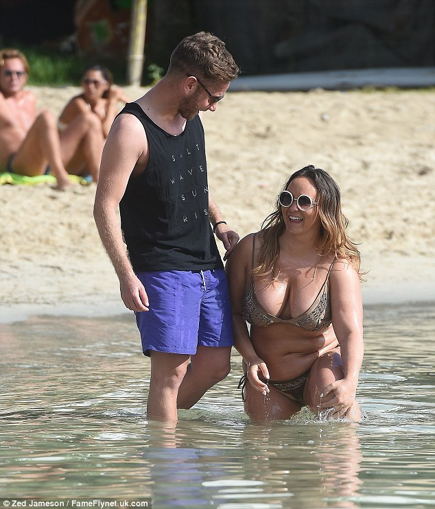 Perfect pair:Chanelle was recently asked how her boyfriend - who she met on Tinder - feels about her size, to which she revealed he loves her however she looks