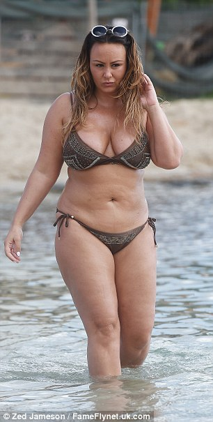 Gorgeous:Chanelle recently came under fire from a cruel body shamer, who mocked her weight in a shocking bout of road rage but she was a vision of confidence on her beach break
