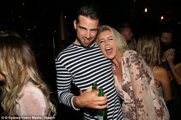 Does he have a type?Sam, who was rejected by former TV journalist Georgia Love on the Bachelorette appeared to have his eyes set on Channel Ten TV presenter, Olivia Phyland during the star-studded event