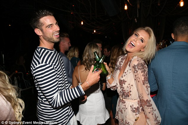 Cheers! Sam and Olivia were spotted together during the evening, sharing drinks, laughter and cheeky dance floor boogie