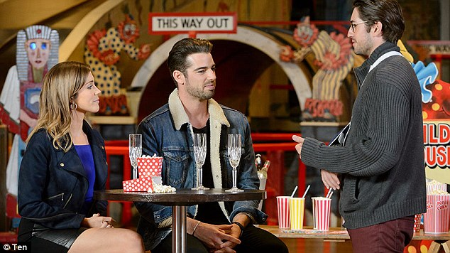 Georgia wasn't happy! The reality star was booted from the Bachelorette by Georgia after he admitted he joined the reality TV show not in search of love but to boost his career plans, as he said the show had given him a kick to get to presenting quicker