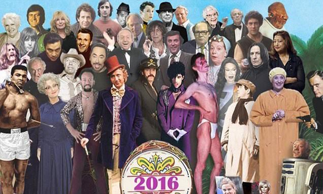Beatles-inspired tribute to the long list of celebrities who have died this year