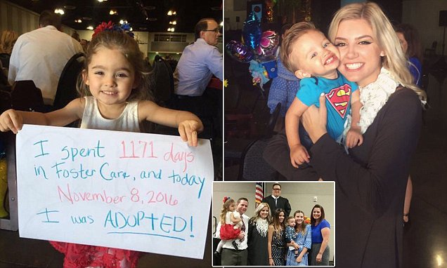 Kylie Scudder shares pictures on Twitter of new brother and sister after adoption is final