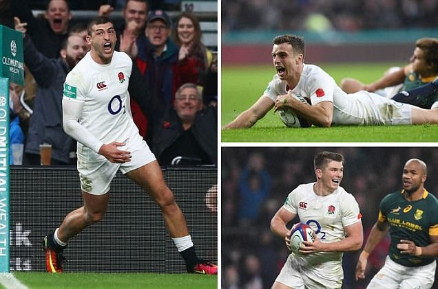 England 37-21 South Africa: Tries from Jonny May, Courtney Lawes, George Ford and Owen