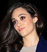 Sexy in suede: Emmy Rossum slipped into figure-hugging trousers and matching boots to dine in Beverly Hills.