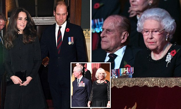 Kate Middleton joins the Queen at the Royal Albert Hall for Festival of Remembrance