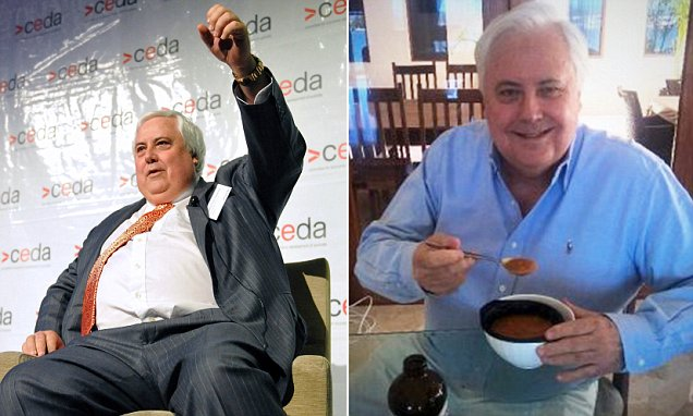 Clive Palmer loses a massive 40kg eating Lite n' Easy dinners