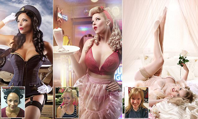 Photographer Chrissy Sparks transforms ordinary women into VERY glamorous pin-ups