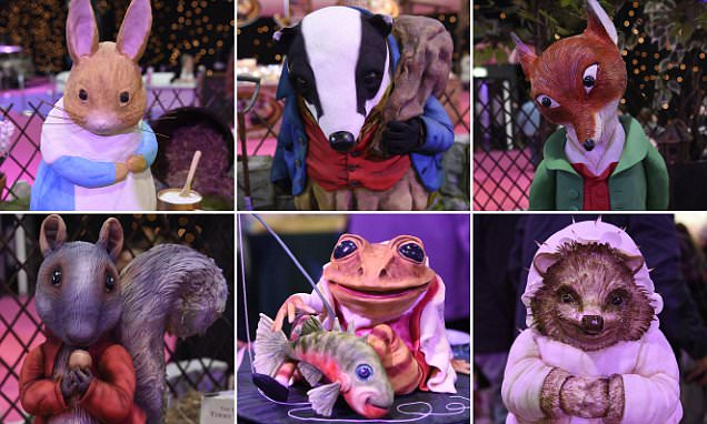 Cakes at Cake and Bake show look JUST like  Beatrix Potter characters