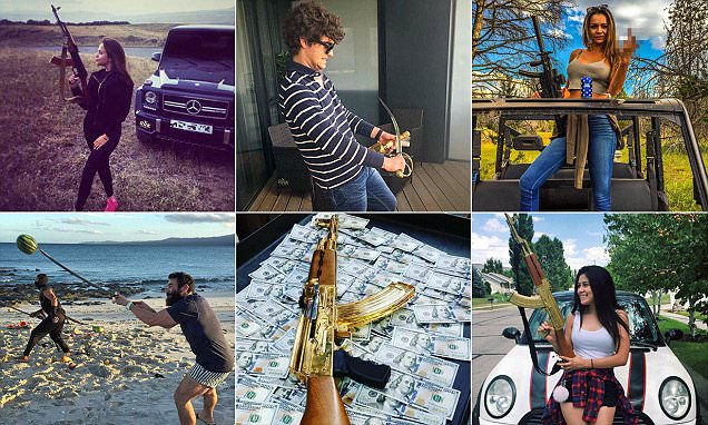 Gold AK47s and swords are latest must-have for Rich Kids of Instagram