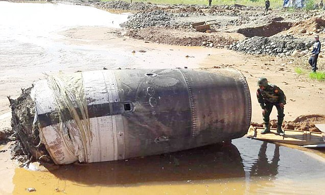 Mysterious chunk of 'Chinese' space debris crash lands in Myanmar