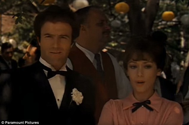 Career role: Actress Julie Gregg of The Godfather fame died of cancer this week at 79 at her Van Nuys, California home