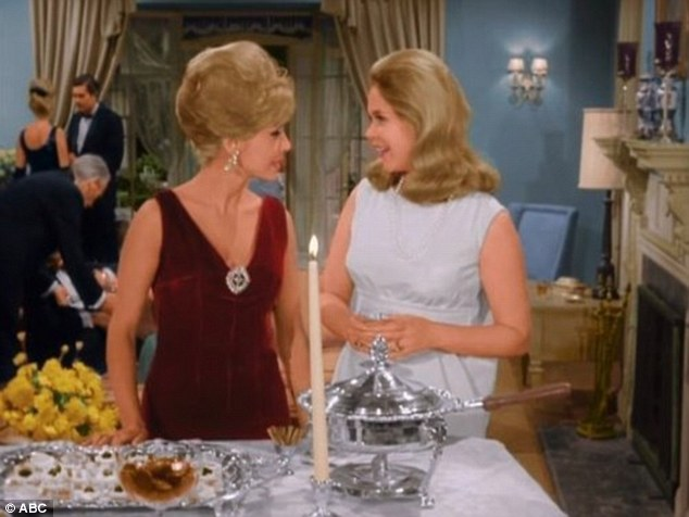 Small screen stalwart: In addition to I Dream of Jeannie, Gregg (left) also appeared on shows like Bewitched, Mission: Impossible and Hawaii Five-O.