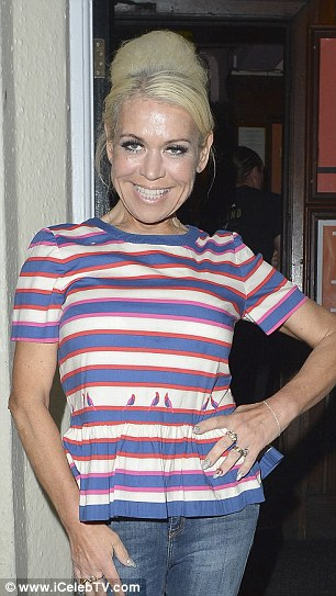 Transformed: Looking as lithe as ever, the 53-year-old actress showed off her size six frame in a fitted striped top and skinny jeans after slimming down to a tiny size 6