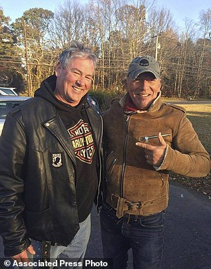 Dan Barkalow (left) spotted Bruce Springsteen on the side of the road