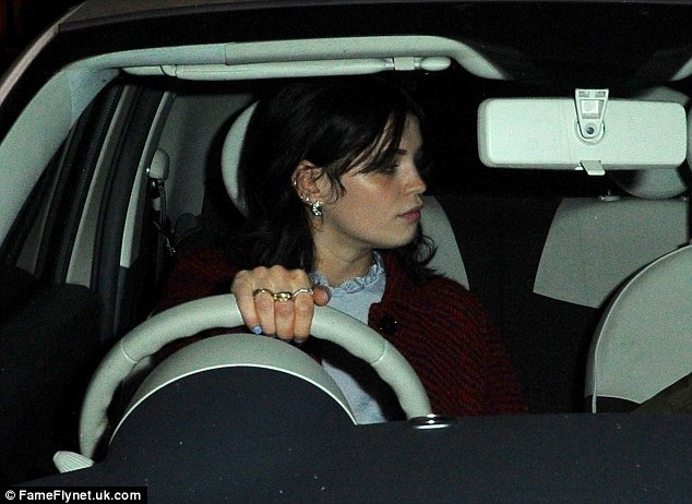 Pensive mood: Pixie took the wheel of her car following the event
