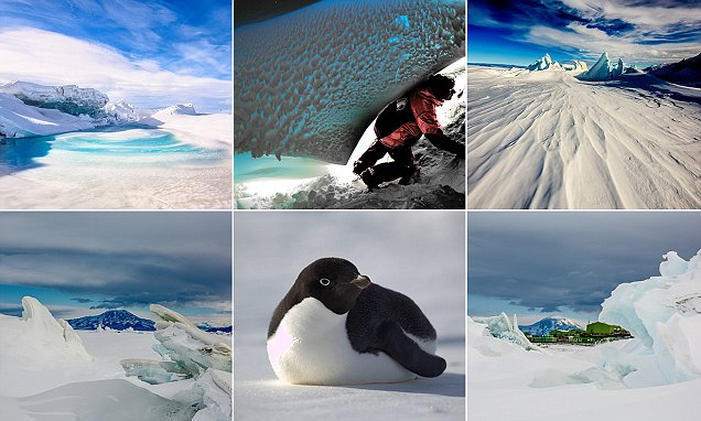 Stunning images show Antarctica in all its breathtaking glory as a crew of scientists