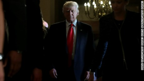 WASHINGTON, DC - NOVEMBER 10:  President-elect Donald Trump walks from a meeting with Senate Majority Leader Mitch McConnell at the U.S. Capitol November 10, 2016 in Washington, DC. Earlier in the day president-elect Trump met with U.S. President Barack Obama at the White House.  (Photo by Mark Wilson/Getty Images)