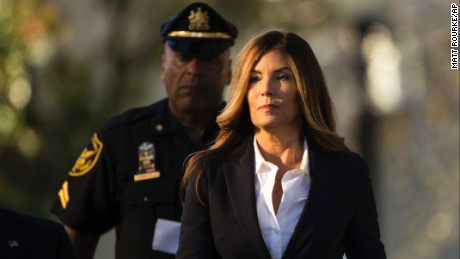 Former Pennsylvania Attorney General Kathleen Kane arrives at Montgomery County courthouse for her scheduled sentencing hearing in Norristown on Monday, October 24.