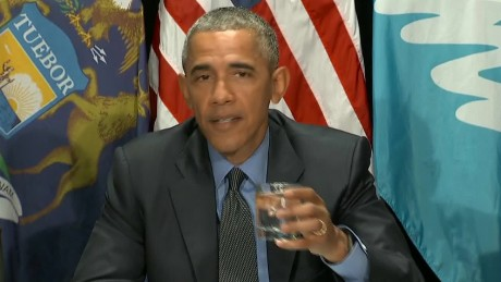 obama drinks flint water lead pipes replaced sot _00001208.jpg