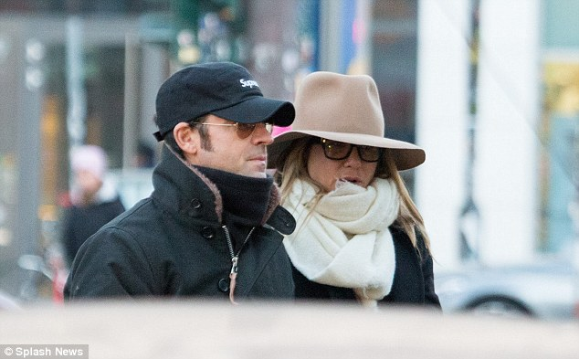Incognito: Jennifer Aniston and husband Justin Theroux were spotted enjoying a weekend in Berlin, Germany on Saturday