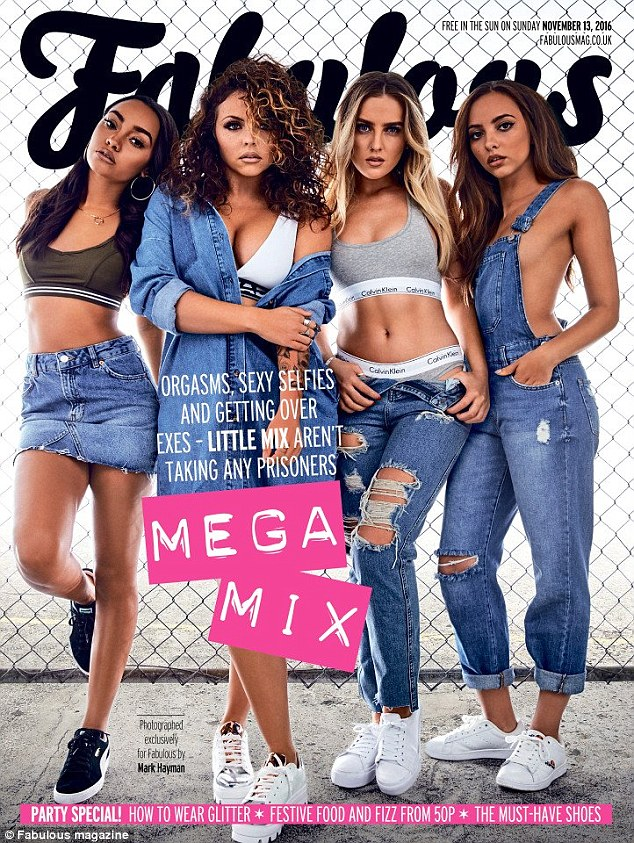 Cover girls: Little Mix stars (l-r) Leigh-Anne Pinnock, Jesy Nelson, Perrie Edwards and Jade Thirlwall - who recently released the hit track Shout Out To My Ex - have revealed they're not shy about shaming their exes in song, in a new interview with The Sun's Fabulous