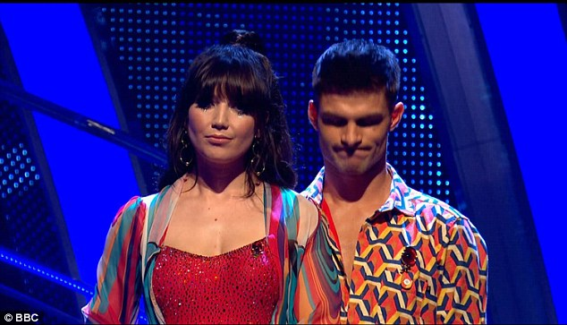 Out:Daisy Lowe's luck ran out on Sunday night as she was voted off Strictly Come Dancing, a week before the anticipated Blackpool Tower Ballroom special