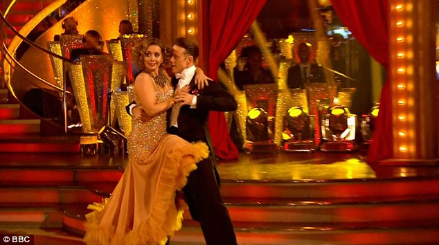 Dancing duo:Closing the show was Louise Redknapp and Kevin Clifton, who outdid themselves with their American Smooth