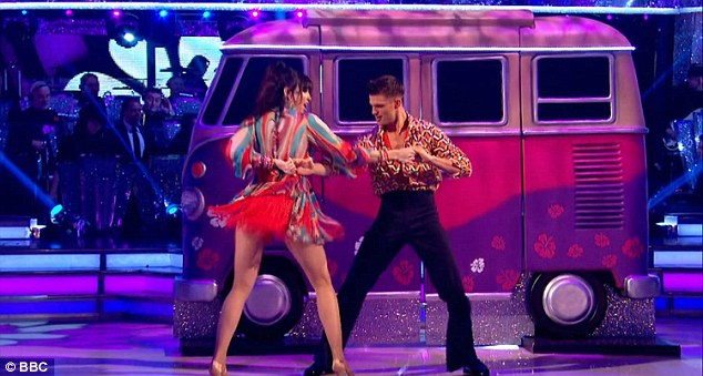 Flower power:Daisy  ensured she gave it her all as she performed an energetic salsa  to Groove Is In The Heart on Saturday night