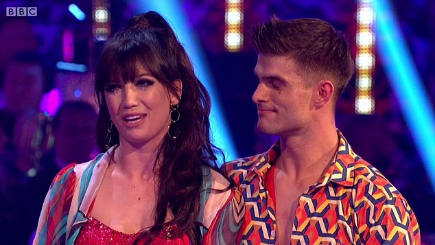 Emotional:After hearing she was facing the dreaded dance off yet again, Daisy told host Tess Daly: 'I'm just hoping it's not the third and final one!'
