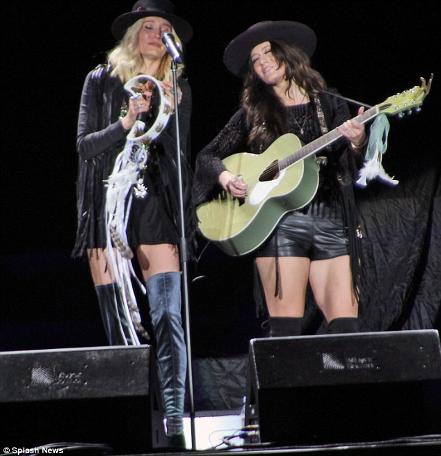 Sisters are doing it for themselves! Ruby performed with her palAlyssa Bonagura for their band The Sisterhood